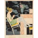 """Original Vintage Art Deco Lithograph """"Polet Ses Griffes"""" by Paul Alleaz  28/200"""