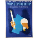 Advertising Poster Électricité de France by Colin