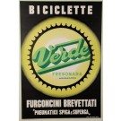 "Italian Bicycle Advertising Poster ""BICICLETTE VERDE - FRESONARA"""