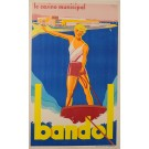 Original Vintage French Riviera Resort Poster Bandol by André Bermond 1930