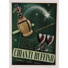 "Original Vintage Tuscany Italy Poster ""CHIANTI RUFFINO"" Wine by U. Torricelli ca. 1950"