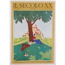 """Original Italian Cover Print Magazine Il Secolo XX """"Siesta"""" 1931"""