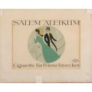 "Small Vintage German Poster Advertising ""Salem Aleikum"" Cigarettes 1920's"