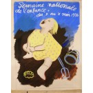 "Orginal Vintage French Children Maquette ""Semaine Nationale de l'Enfance"""