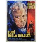 "Original Vintage Italian Movie Chaplin Poster ""Luci della ribalta"" (Limelight) 1952"
