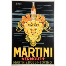 Original Vintage Italian Poster Advertising Martini Vermouth by Pan Marco 1950's