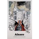 """Original Vintage French Poster Chemins de fer français """"Alsace"""" by S. DALI 1969"""
