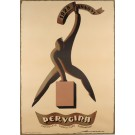 "Original Vintage Italian Poster Advertising ""Perugina"" Chocolate Signed 1950's"