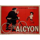 Original Vintage French Poster Adverting Famous Bicycle Manufacturer ALCYON 1900