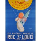 "French Advertising Poster for Mineral Water ""Roc St Louis"" by Tuckson"