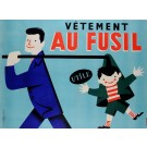 "Original Vintage French Poster ""Vetement Au Fusil"" by Roger Varenne ca. 1960"