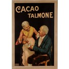 "Original Vintage French Chromolithograph ""Cacao Talmone ""Milano by OCHSNER ca.1920"