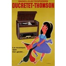 "Original Vintage French Poster ""Ducretet Thompson"" Radio by Fix Masseau ca. 1960"