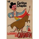 "Charlie (Carlitos) Chaplin Spanish Movie Poster for ""La Parodia de Carmen"" 1950's"