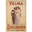 "Original Vintage French Poster ""Velma Suchard"" Chocolate 1920's"