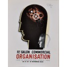 "Original Vintage French Poster Advertising ""Salon Commercial Organisation"""