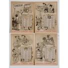 Original Vintage French Poster Advertising Chocolat Lombard Calendar ca. 1900