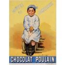 "Original Vintage French Poster ""Chocolat Poulain"" by Fermin Bousset 1896"