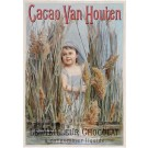 "Original Vintage Dutch Poster Chocolate ""Cacao Van Houten"" ca. 1900"