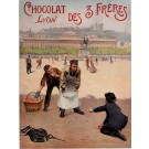 "Original Vintage French Poster ""Lyon - Chocolat des 3 Frères"" by  Pierre Bonnard 1901"