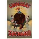 "Original Vintage Swiss Poster Chocolate ""Chocolat Suchard"" - Rare!"