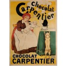 Original Vintage French Poster Chocolate Carpentier by H. Gerbault ca. 1900