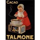 Original Vintage Advertising Poster tor Cacao Talmone ca. 1940