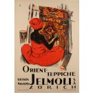 Original Swiss Poster Advertising Oriental Carpets Sold at JELMOLI, Zurich