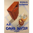 "Original Vintage French Poster ""Au Grand Pasteur"" by C. Villot ca. 1930"