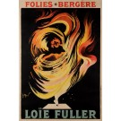 "Original Vintage French Poster ""Loïe Fuller"" by Meunier Georges ca. 1900"