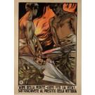 """Original Vintage Italian Poster """"Armi Della Morte - Armi Per La Vita!"""" by T. Curbella"""