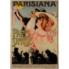 "Original Vintage French Poster ""Paris s'amuse"" Operette by L. Damaré 1905"