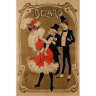 "Original Vintage French Art Nouveau Poster ""Becar's"" Performer by Misty ca. 1900"