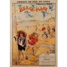 "Original Vintage French Travel Poster ""Breck-Plage"" Baths Spa Resort ca. 1900"