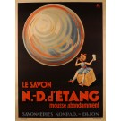 "Original Vintage French Poster for ""Konrad - N-D d'Etang"" Soap by Faye ca. 1930"