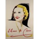 "Original Vintage French Movie for ""Eliane de Creus"" Singer 1930's"