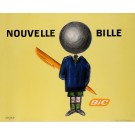 "Original Vintage French Poster for ""Bic Nouvelle Bille"" Pens by Raymond Savignac"