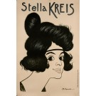 Original Vintage French Poster Advertising The German Performer Stella Kreis