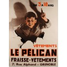 Original Vintage French Poster for Le Pelican Fraisse Vetements