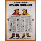 "Original Vintage French Movie Poster Advertising ""Robert et  Robert"" by Landi"