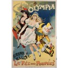 "Original Vintage French Poster Advertising ""Olympia"" Ballet by PAL 1894   SOLD"