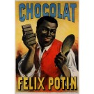 "Original French Poster Advertising ""Chocolat Felix Potin"" by Morgue Etses Fils"