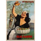 "Original Vintage Italian Poster for ""Olio Radino"" Olive Oil by Gino Boccasile"