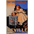 "Original Vintage French Poster Advertising ""DEVILLE"" Oven by Marcel Bloch ca. 1920"