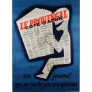 "Original Vintage French Poster for ""LA PROVENCAL"" Newspaper by C. Nicolitch"