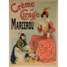 "Original Vintage French OVERSIZE Poster for ""Creme et Cirage Marcerou"" by Rene Pean 1899"