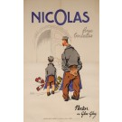"Original Vintage French OVERSIZE Alcohol Poster for ""Nicolas Fines Bouteilles"""