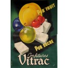 "Original Vintage French OVERSIZE 2 PARTS Poster for ""Confitures Vitrac"" by A. Baehr ca. 1950"