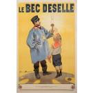 "Original Vintage French OVERSIZE Poster for ""Le Bec Deselle"" by Firmin Bouisset ca. 1900"