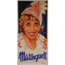 "Original Vintage French OVERSIZE 3 PARTS Poster for ""Mistinguett"" by Atelier Konig Weninger 1933"